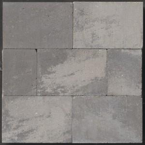 Linea muurblok grijs-zwart genuanceerd