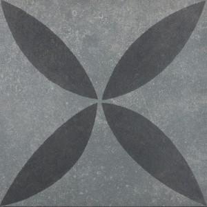 Duostone_Flower Black on Grey